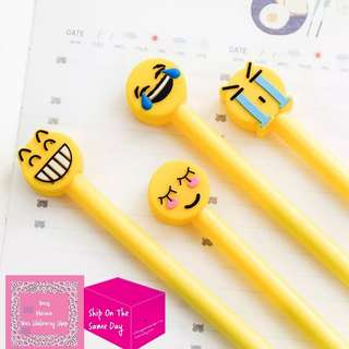 Set of 4pcs Emoji Gel Ink Pen