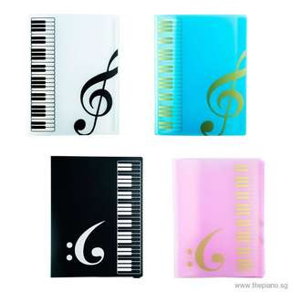 Plastic Music Book Folders - A4