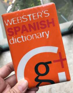 Webster's Spanish dictionary.