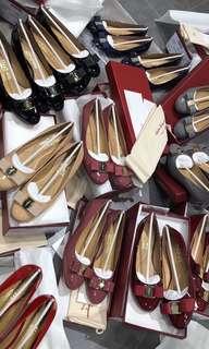 Ferragamo flats and heels