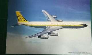 Vintage MSA Boeing 707-320B Fanjet postcard. One piece only