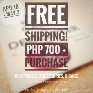 ❗️FREE Shipping for Php700+ Purchase