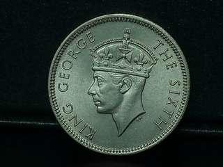👑 KGVi 1939, 20c Unc. Silver