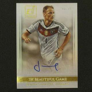 2015 Panini Donruss Soccer Autograph The Beautiful Game #/99 - Denedikt HOWEDES #Germany