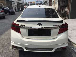 Vios Third Generation Ducktail Spoiler With Paint