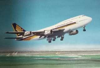 Vintage Singapore Airlines BIG TOP Postcard