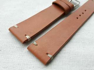 100% Handmade  Genuine Calf Oiled Leather Watch  Strap Colour : Hazelnut  Brown Lug/Buckle Widths : 19/16, 20/16 mm Length/Buckle Side : 110/75 mm Loops/Widths : 6 mm Thickness approx : 2.5 mm Buckle : Steel
