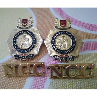 Vintage Beret Badge National Cadet Corp NCC Badge Pin