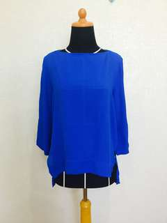 ZARA WOMAN BLUE BLOUSE
