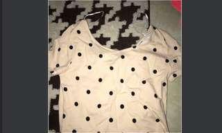 H&M polkadot tshirt