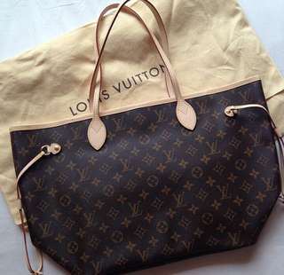 LV Neverfull MM Authentic