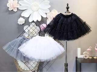 Puff skirts lace veil skirt