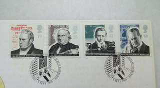Great Britain UK England Wireless Message Stamps & Postmark #2