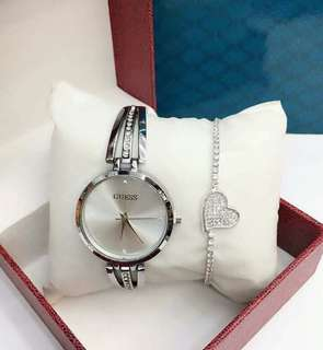 Guess Watch with Accessories and box Brand-new and Good Quality
