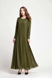 Lace Sleeve Jubah ( 5 colors)