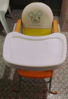 Elfin Doll Baby High Chair