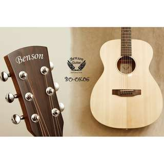 Benson Guitar BO-OK06 單板無鑲邊木吉他 奧古曼側背板 贈全套配件