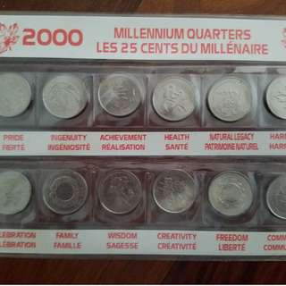 Millennium Canadian Quarters collection