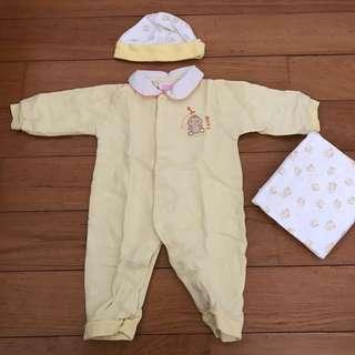 Yellow Jumpsuit Set