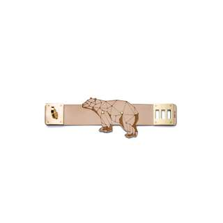 NOBEING - 北極熊皮革鐳射切割手帶