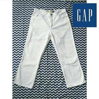 Gap white slit pants
