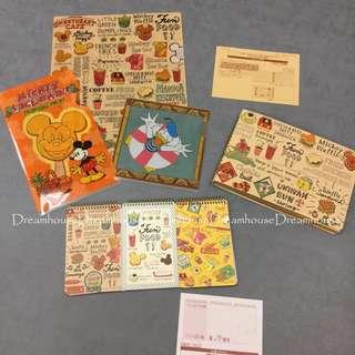 東京迪士尼 日本製 手繪風 插畫風 米奇 資料夾 文件夾 筆記本 記事本 手札