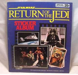 Star Wars sticker album from 1983. (Uk) complete except 1 sticker