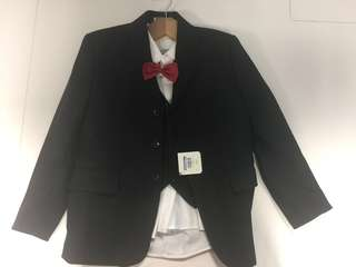 Brand new full set boy 3 piece suit with dust bag and hanger