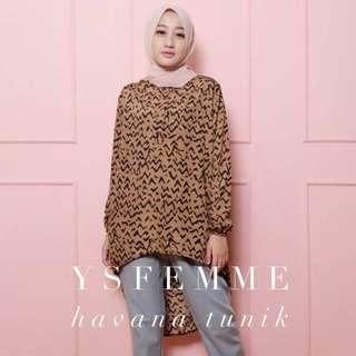 Free ongkir jabodetabek - Atasan Tunik wanita preloved - Tunic - baju muslim - baju wanita - motif - hilow top