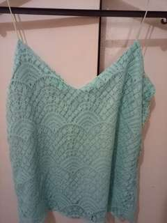 Sleeves less blue green
