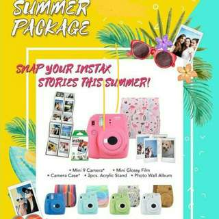Instax mini 9 in summer package