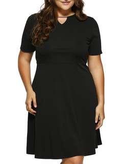 Plus size A-line cut out dress 5XL