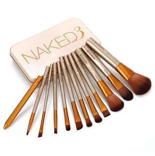 Naked 3 Brush Set make up brushes 12 pieces