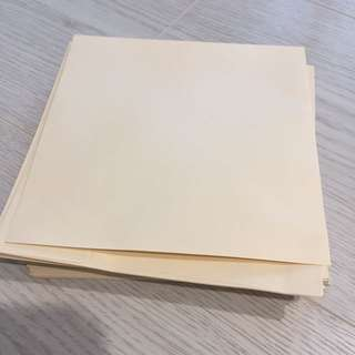 Ivory wedding invitation Card envelope (50 pieces)