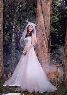 婚後物資,結婚拍攝用小清新LOLITA鹿角頭紗頭飾