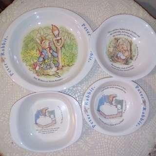 Peter Rabbit Babies plate & bowl
