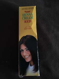 Henna hair cream red