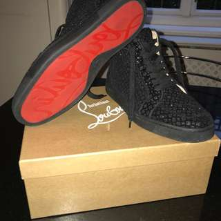 Authentic black christian louboutin trainers
