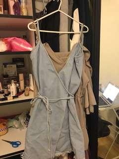Denim wrap around dress