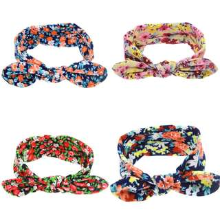 Instock - floral headband, baby infant toddler girl children glad cute 123456789 lalalala