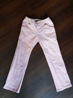 Girl Pink Benetton Pants (up to 7 yr old)