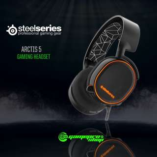 SteelSeries Arctis 5 USB Gaming Headset – RGB & DTS 7.1 Surround – Black (61443)
