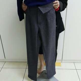 灰色西裝長褲 m尺寸