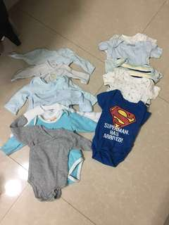 take all baby onesies for nb-3 mos 12 pieces