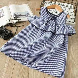 BNWT stripe cold shoulder ribbon dress
