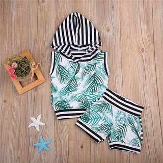 Instock - 2pc Palm set, baby infant toddler girl boy children cute glad 123456789 lalalala