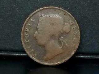 Q.Victoria 1894 1cent Copper