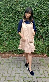 Overall Dress Colorbox / Slit dress