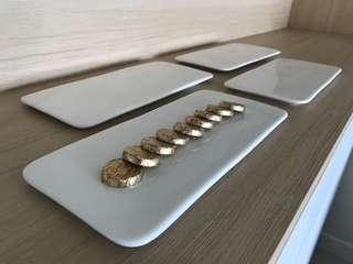 Flat decor plates