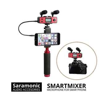 Saramonic Smartmixer for IOS/Android/ Local Warranty! Best for Vlog!